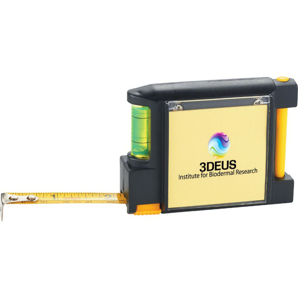 Custom WorkMate 3-in-1 Tape Measure with Pad Pen and Level