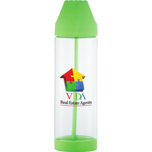Custom Roy G Biv Easy Clean Plastic Bottle 30oz