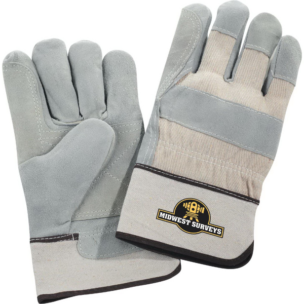 Custom Safety Works Double Palm Gloves White Cuff