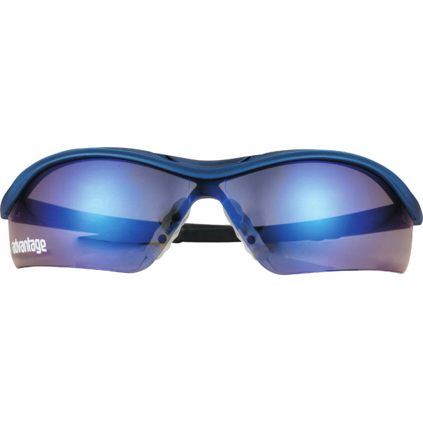 Customized Safety Works DallasBlue (R) Mirrored Safety Glasses