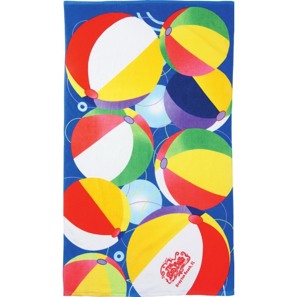 Promotional 14 lb.Beach Ball Beach Towel