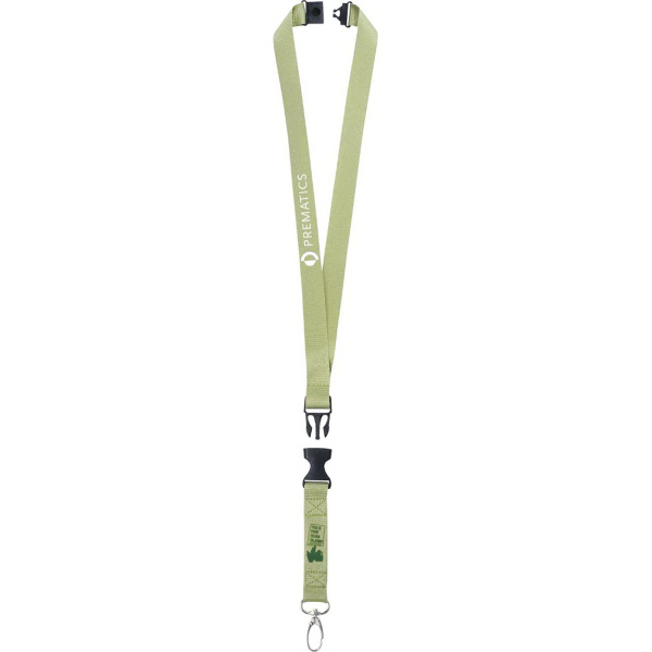 Customized Trash Talking Recycled Lanyard