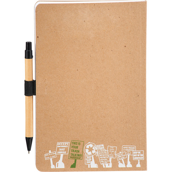 Personalized Trash Talking Recycled Bound JournalBook