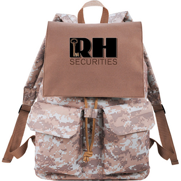 Imprinted In Print Rucksack