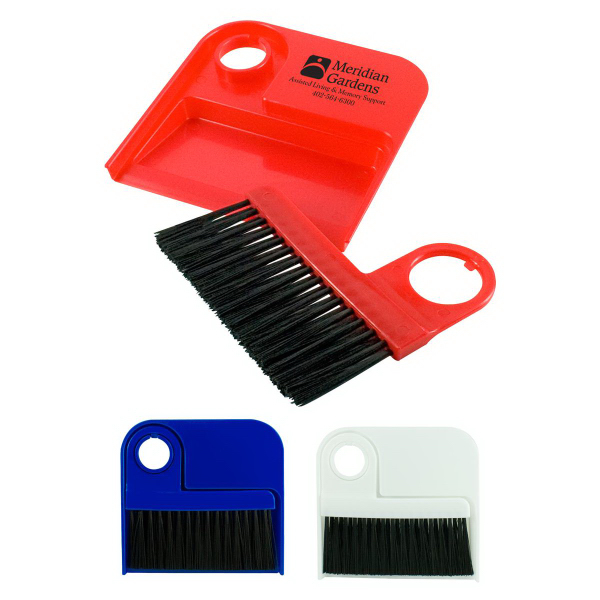 Imprinted Dust Pan and Brush