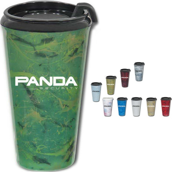 Imprinted Marbleized Infinity Tumblers ,16 oz