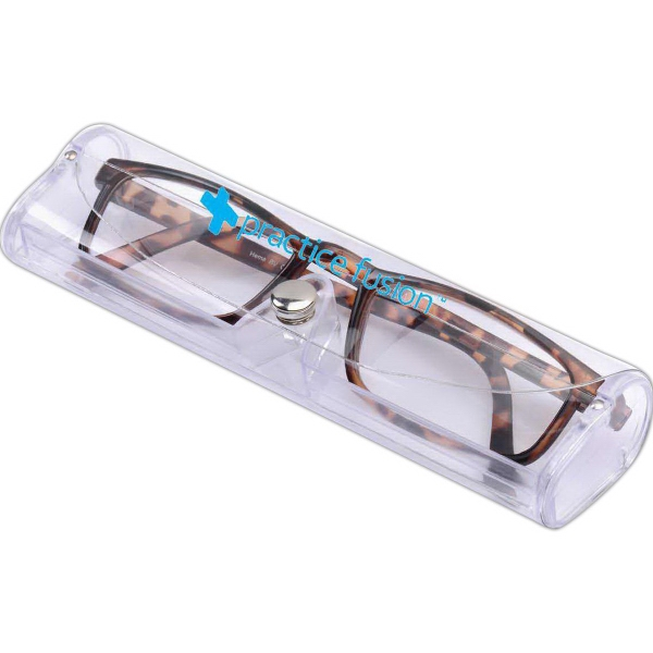 Imprinted Tortoise Shell Reading Glasses with Case