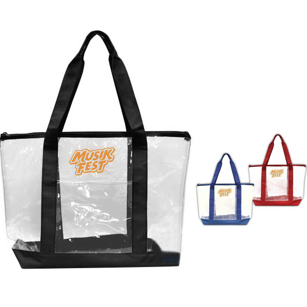Promotional Clear Accent Tote
