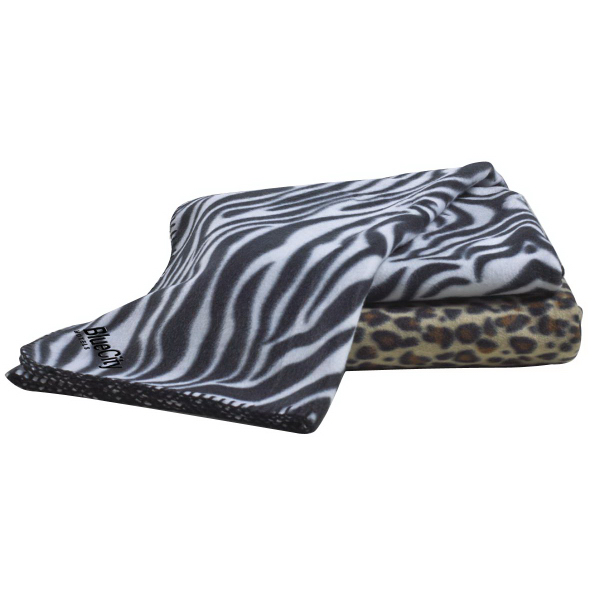 Personalized Animal Print Fleece Blankets