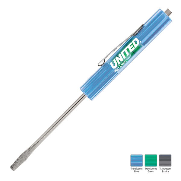 Printed Level Rite Regular Blade Screwdriver with Magnet Top