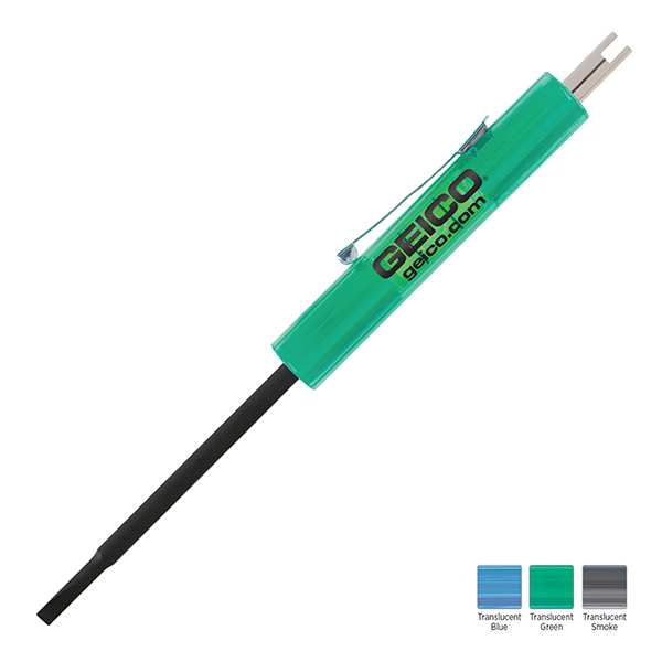 Imprinted Level Rite Technician Blade Screwdriver with Valve Stem Tool