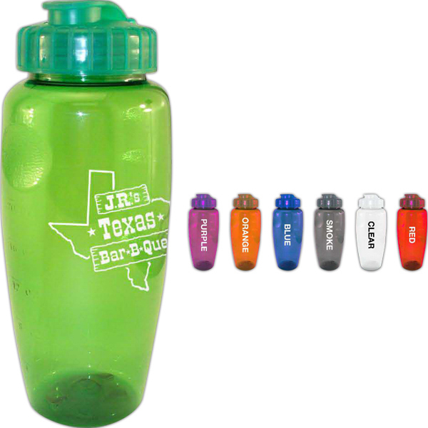 Imprinted 30 oz Gripper Bottle w/ Super Sipper Lid
