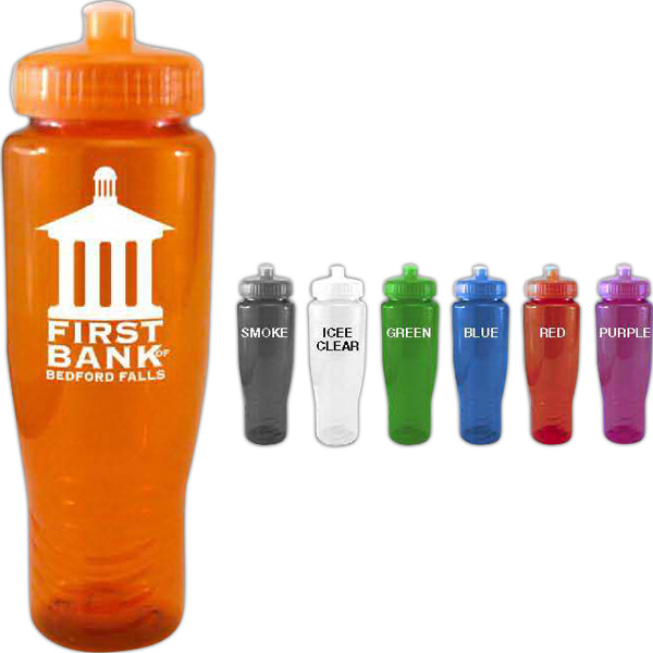 Promotional 28 oz Car Holder Bottle w/ Push Pull Lid