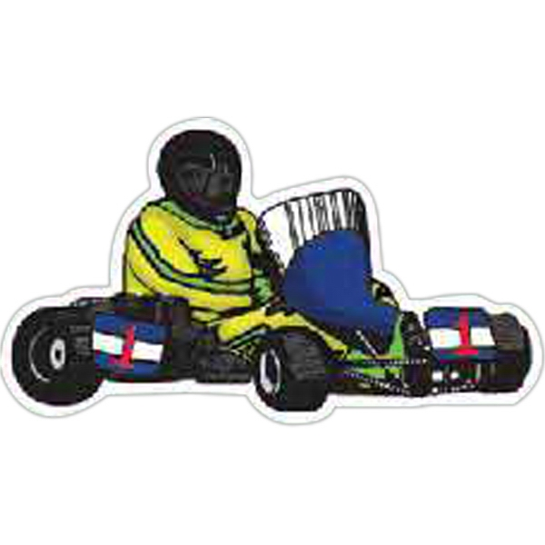 Imprinted Go Cart Magnet