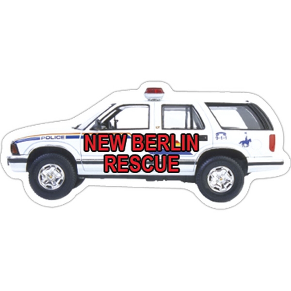Printed Police Car Magnet