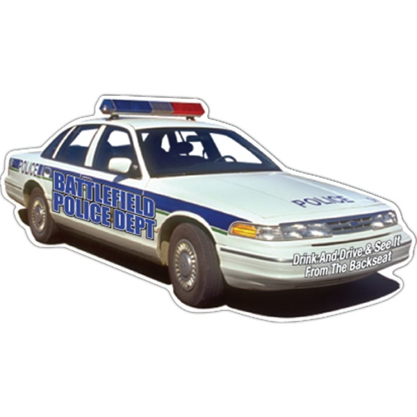 Imprinted Police Car Magnet