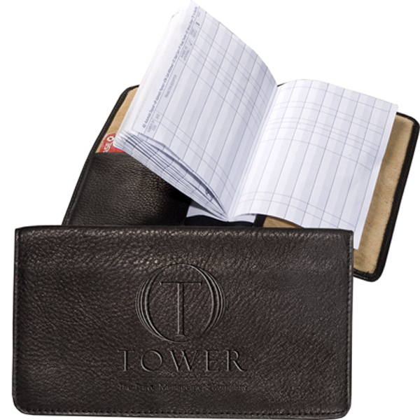 Personalized Clearance Sueded Full-Grain Leather Checkbook Keeper