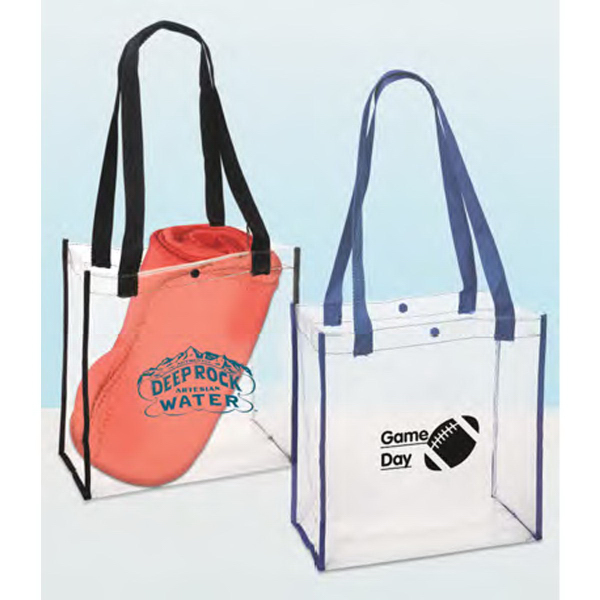 Printed Clear PVC Stadium Tote