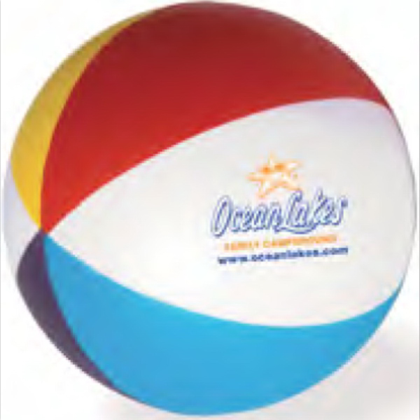 Printed Beach Ball Stress Reliever