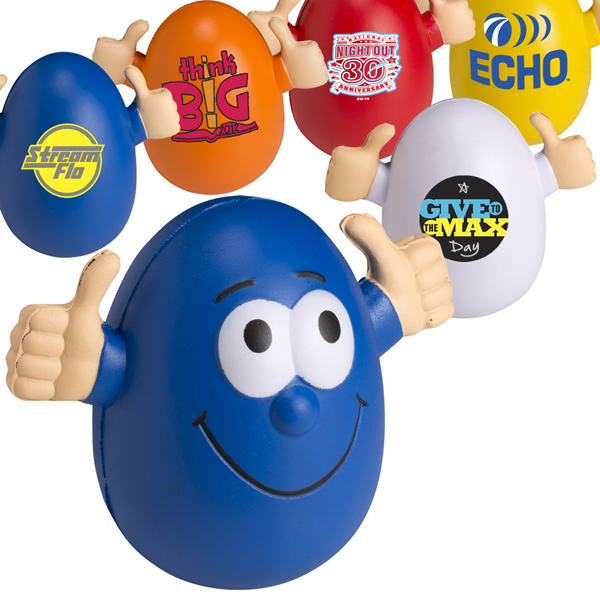 Personalized Smilin' Egg Wobbly Stress Reliever