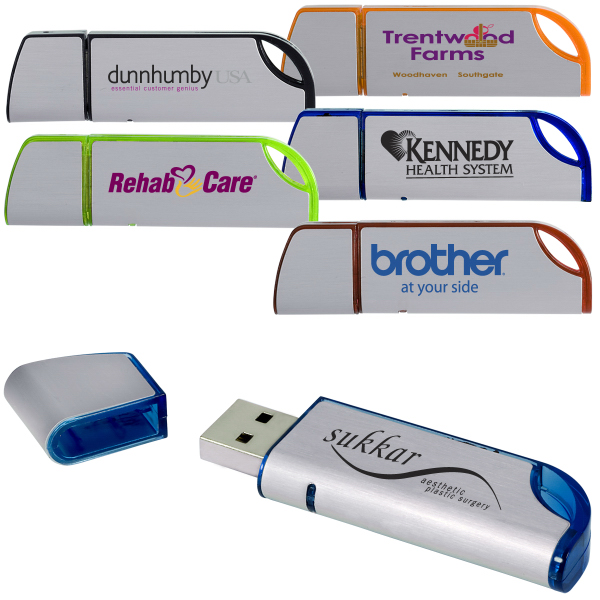 Promotional Slim Cast USB Memory Drive 2.0