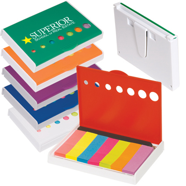 Imprinted Clearance Pocket Sticky Flags with Pen