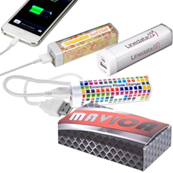 Imprinted Econo Mobile Charger With Four Color Process
