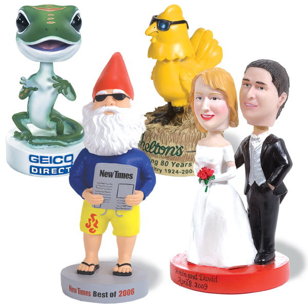 "Imprinted Custom Bobbleheads 4-5"" Tall"