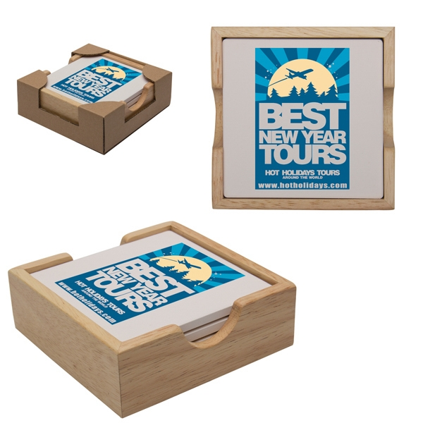 Customized Square Coaster Set