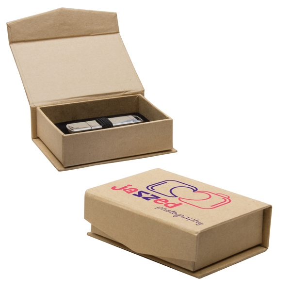 Imprinted USB Kraft Box