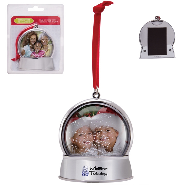 Customized Magnetic Snow Globe Ornament