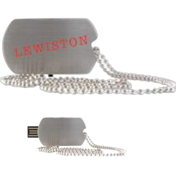 Imprinted Lewiston USB Flash Drive