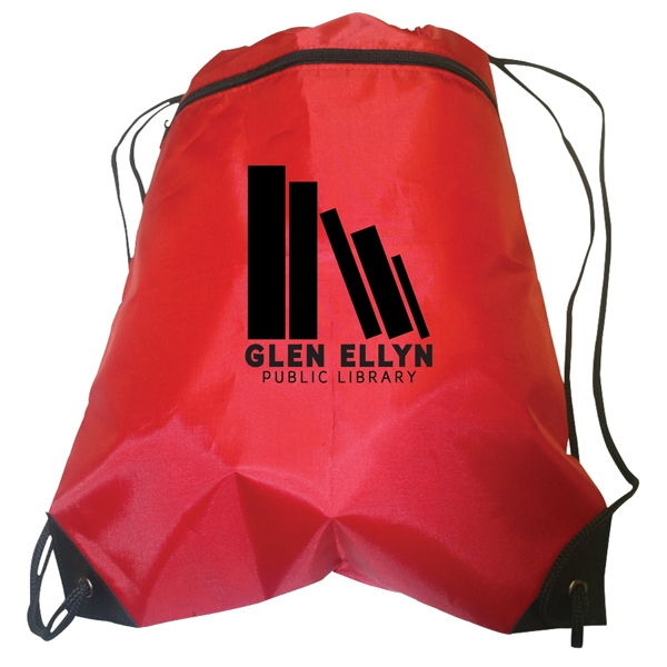 Custom Zip-up Drawstring Backpack