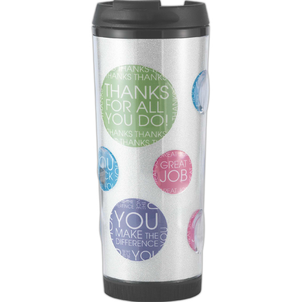 Imprinted Bubble 16 oz. double wall acrylic tumbler with bubble shell