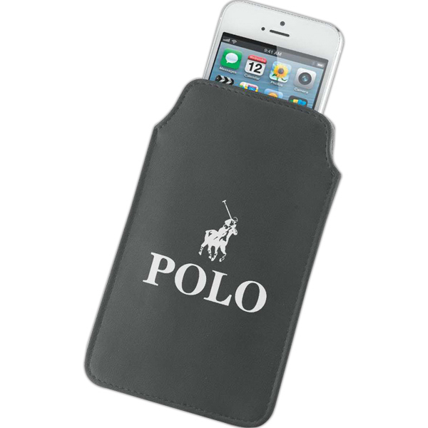 Printed Milan leatherette cell phone holder and wallet
