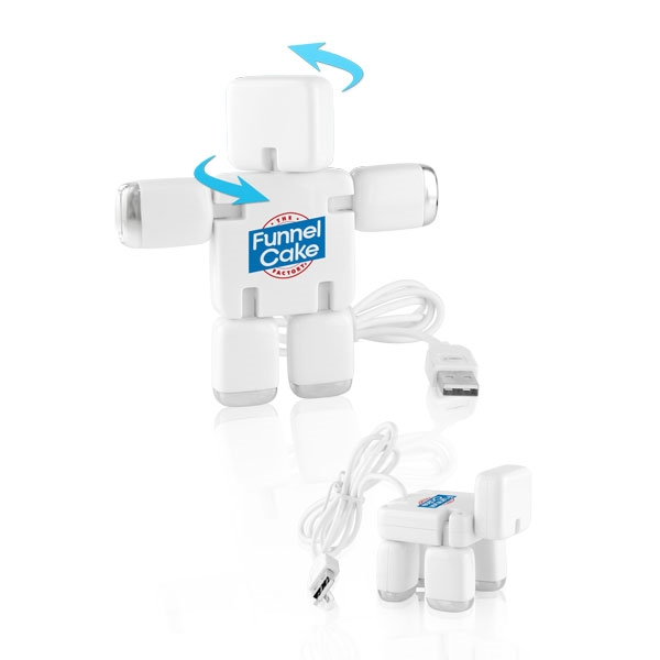 Imprinted Bot-Boy 4 port USB 2.0 hub