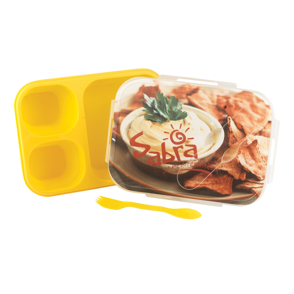 Custom Collapsible Silicone Lunch Box with Snap on Lid