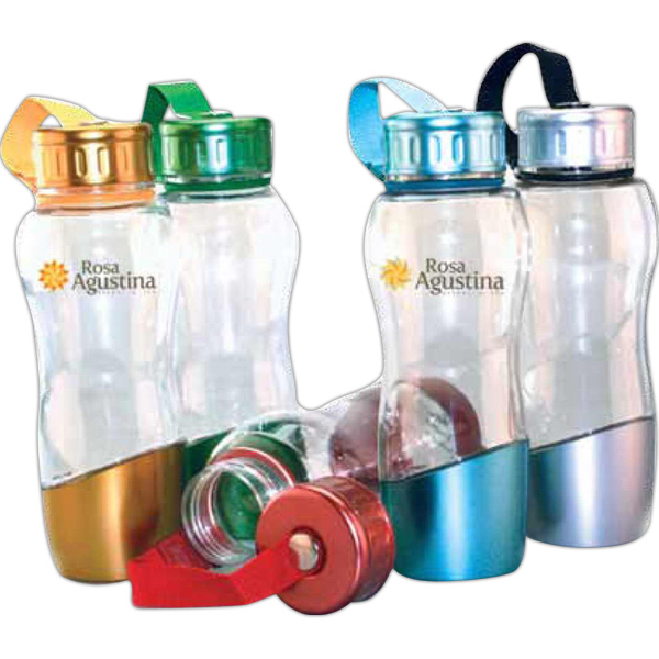 Imprinted Riviera 24 oz Clear PETG  Sport Bottle