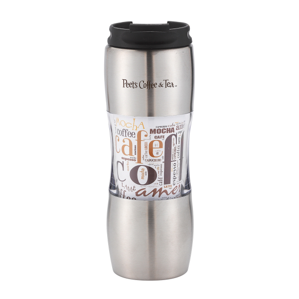 Personalized Santana 16 oz. stainless steel tumbler with paper insert