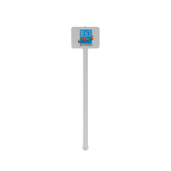 "Imprinted 5 3/4"" Rectangle Drink Stirrer"
