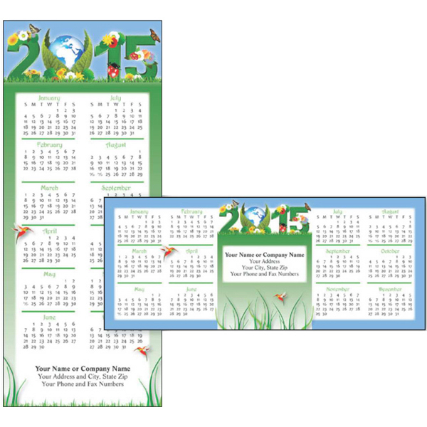 Custom Economy Collection Living Green 2-Sided Horizontal  Calendar