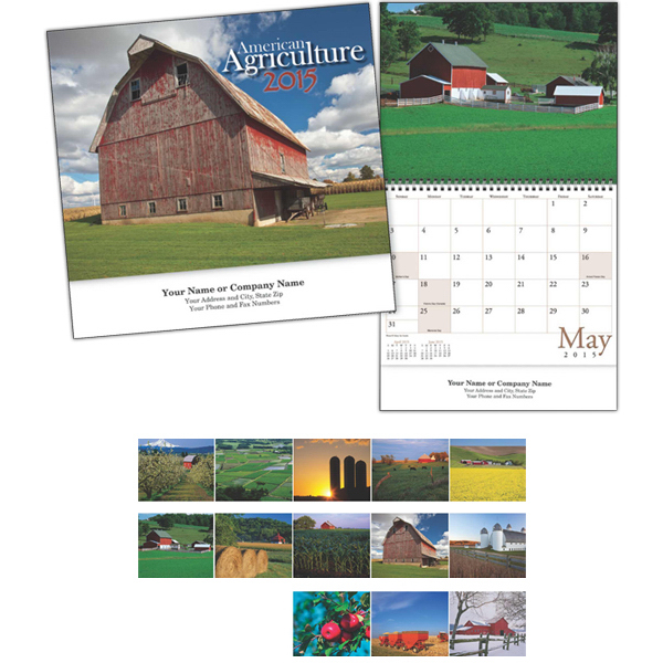 Customized Kingswood Collection American Agriculture Wall Calendar