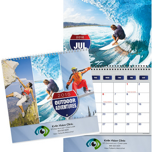 Customized Kingswood Collection Great Outdoors Wall Calendar