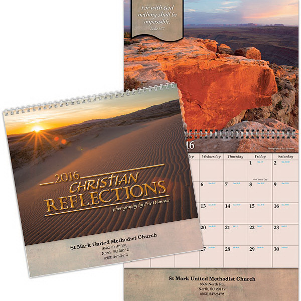 Promotional Kingswood Collection Christian Reflections Wall Calendar