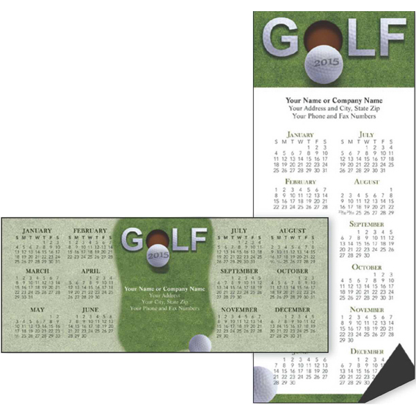 Promotional Economy Collection Golf 2-Sided Horizontal Calendar