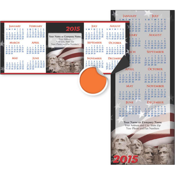 Imprinted Economy Collection Patriotic 2-Sided Horizontal Calendar