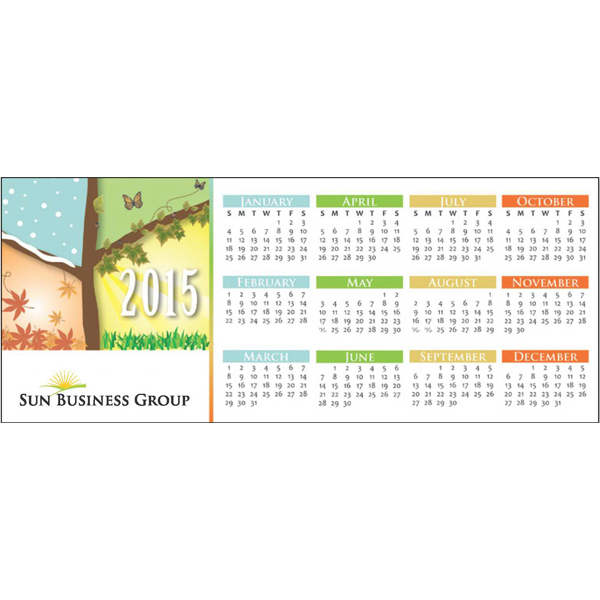 Promotional Economy Collection Four Seasons Horizontal Calendar Card