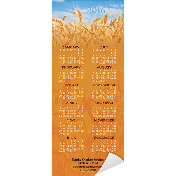 Printed Economy Collection American Agriculture Magnetic Calendar