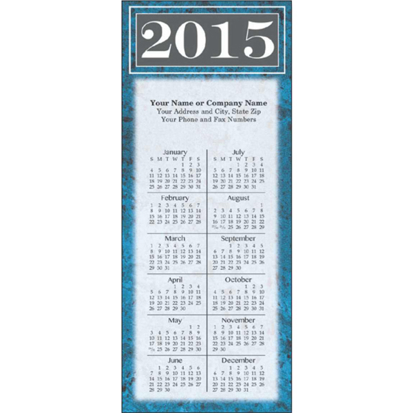 Printed Economy Collection Magnetic Marble Spanish Calendar