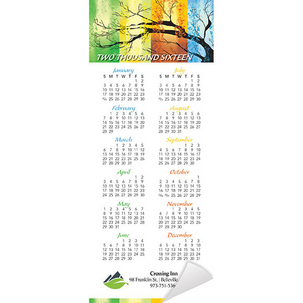 Imprinted Economy Collection Four Seasons Magnetic Calendar
